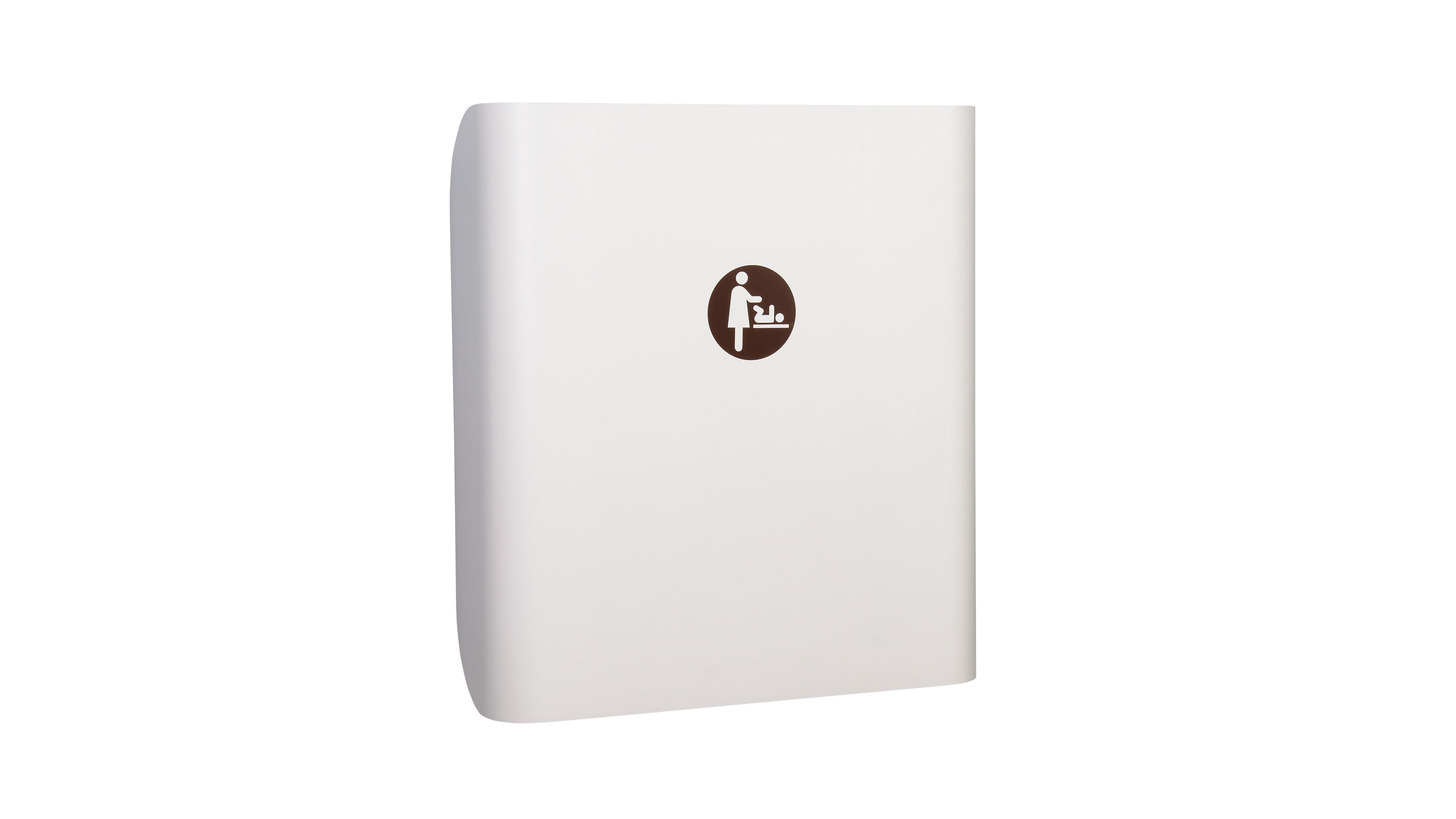 Logo changing table kawaform white 20cm