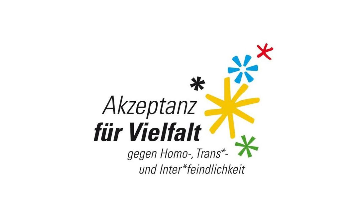 """Logo Modellprojekt: """"Akzeptanz für Vielfalt"""""""