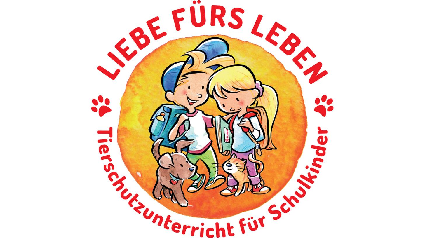 """Logo Tierschutzunterricht """"Liebe fürs Leben"""""""