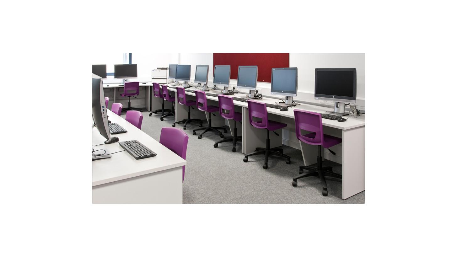 Logo Postura+ task chairs