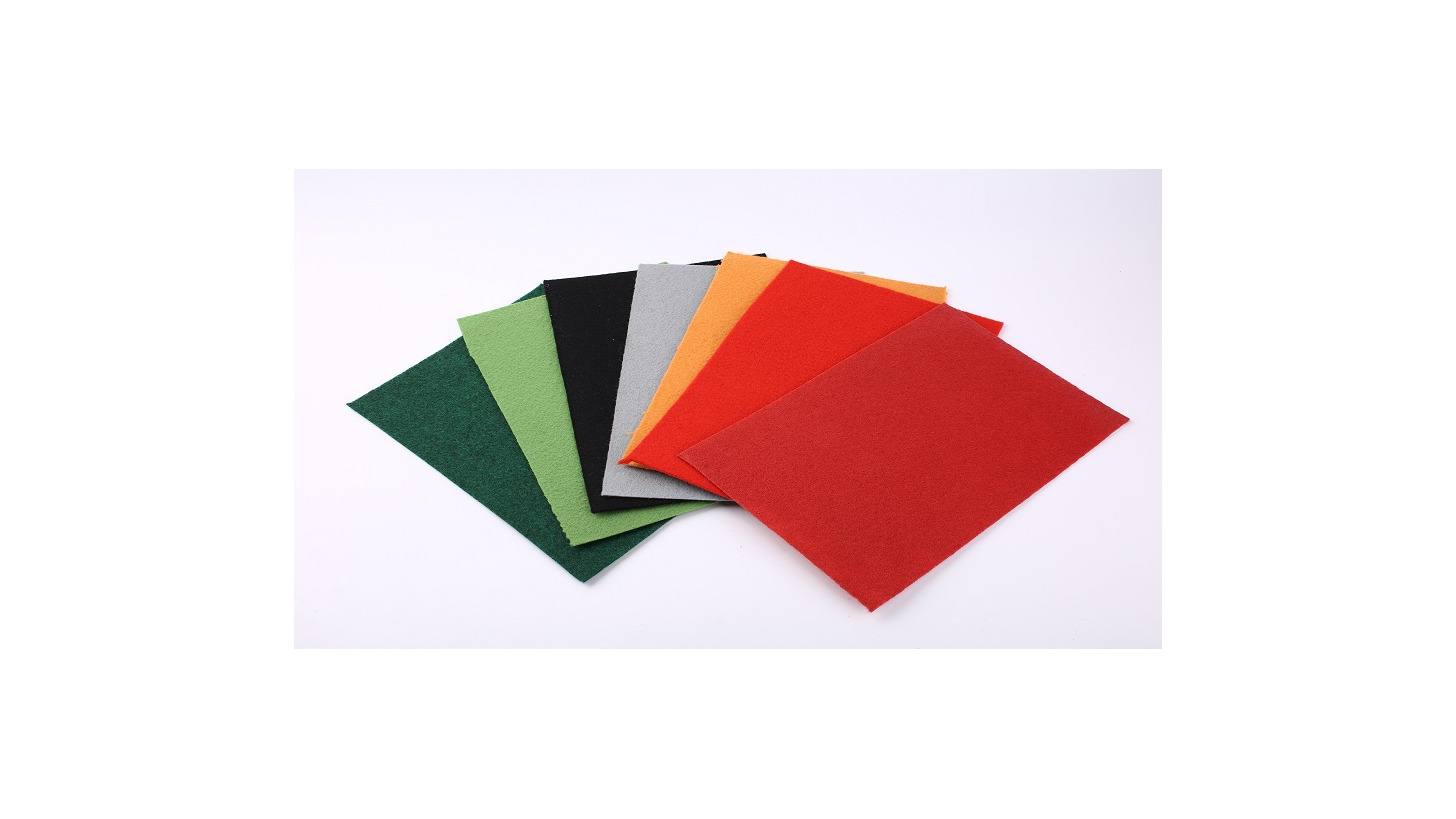 Logo polyester non woven needle punched exhib