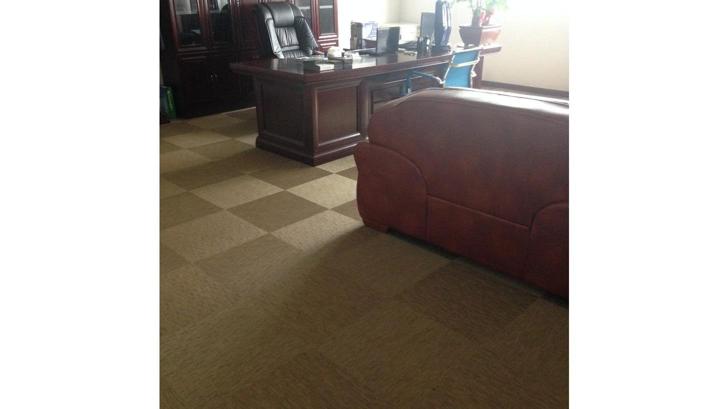 Logo Woven PVC Flooring Tile