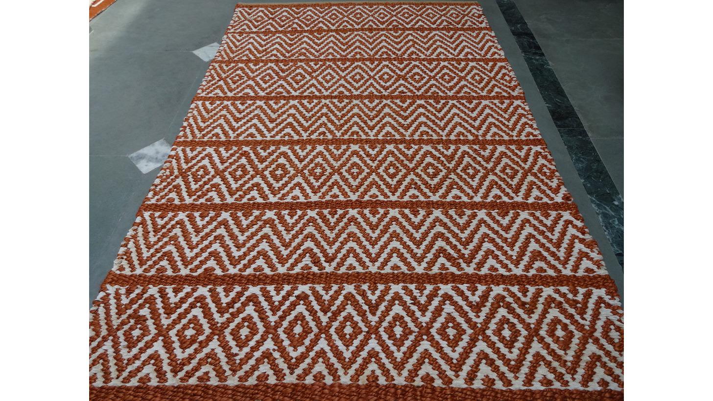 Logo Jute Flat weave Durries