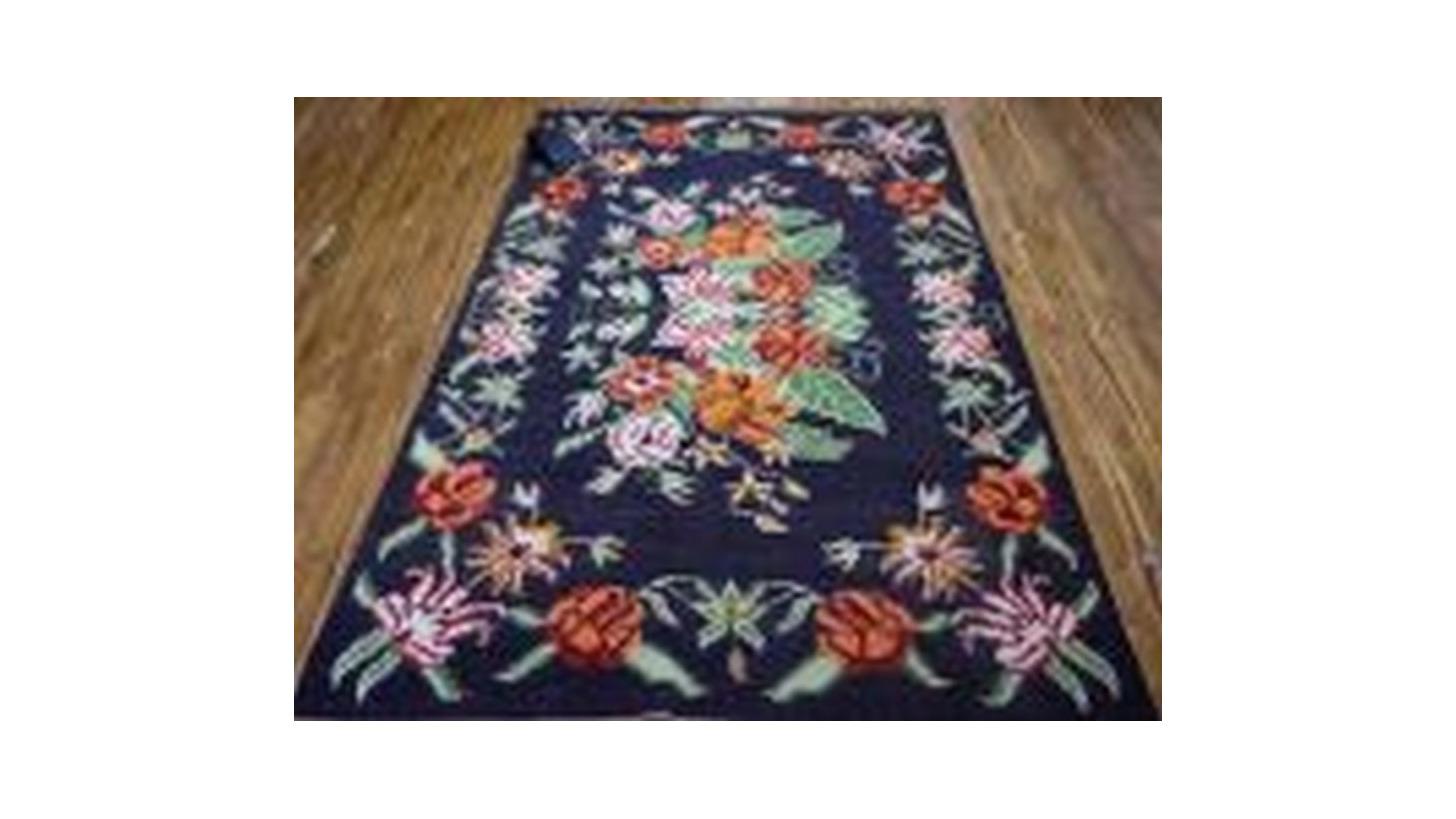 Logo Hand Woven Woolen Flatweave Punza Kilim