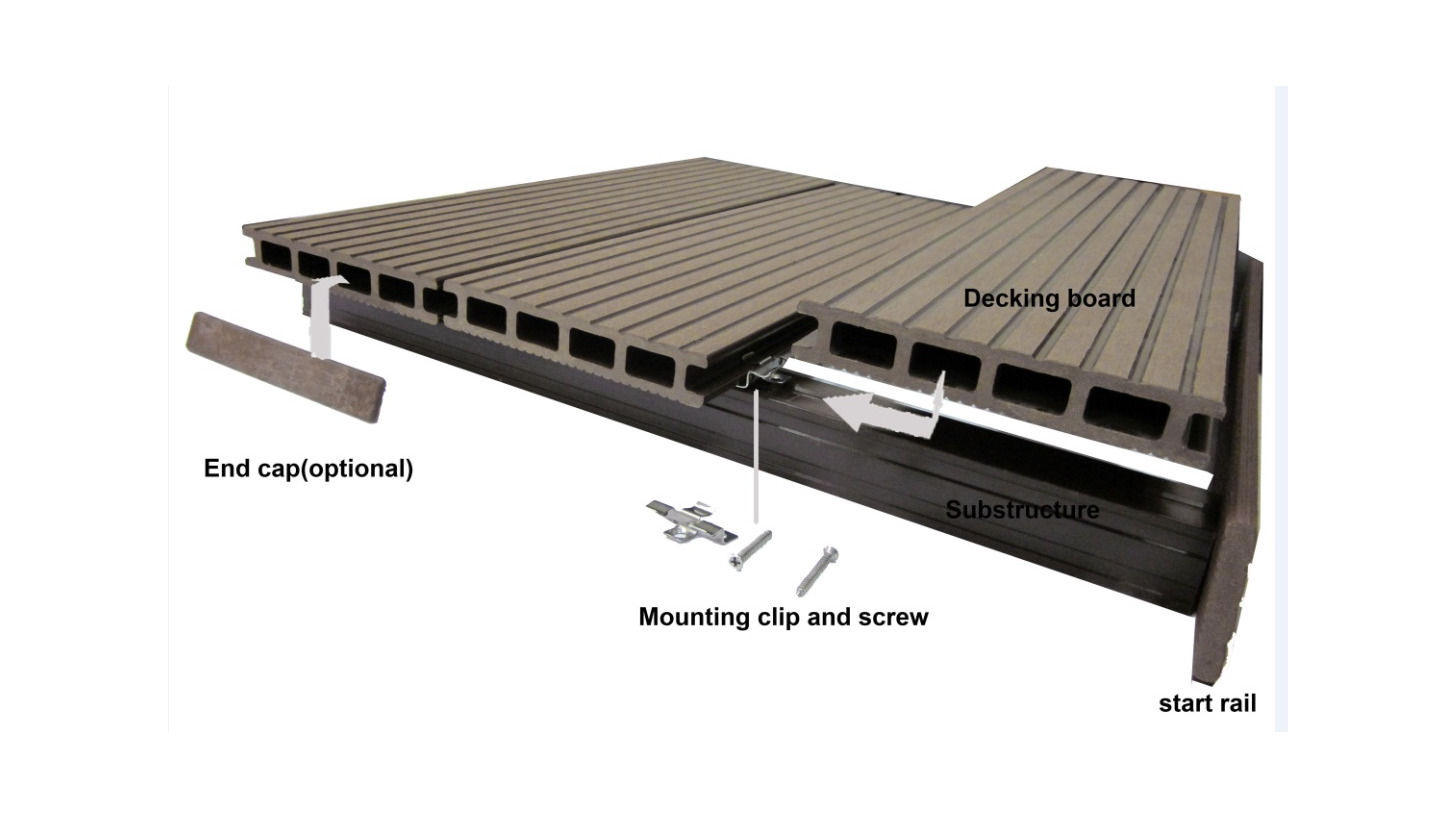 Logo Outdoor Decking Board and related Accessories