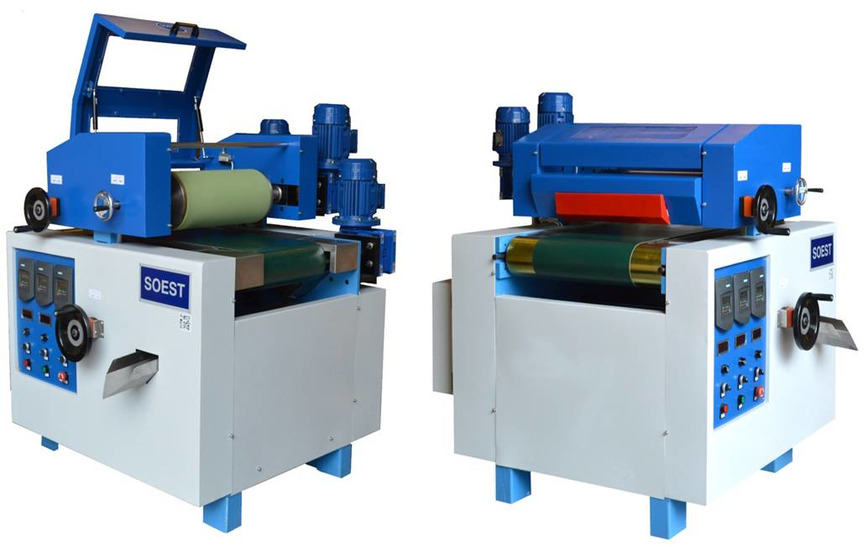 Logo Wood Flooring finishing machinery.