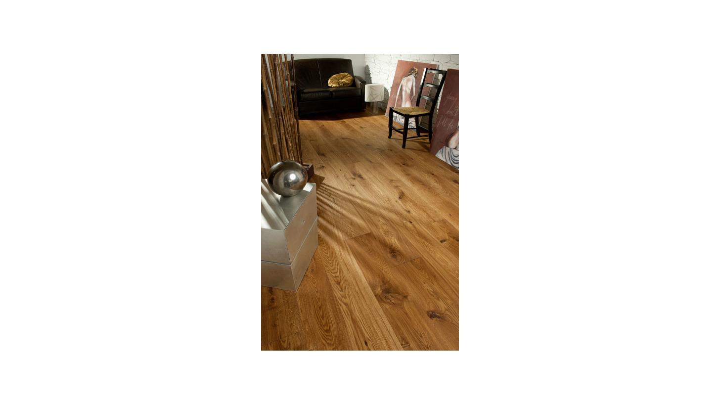 Logo Arts & Crafts Wide Plank Flooring, 3-layer single strip flooring