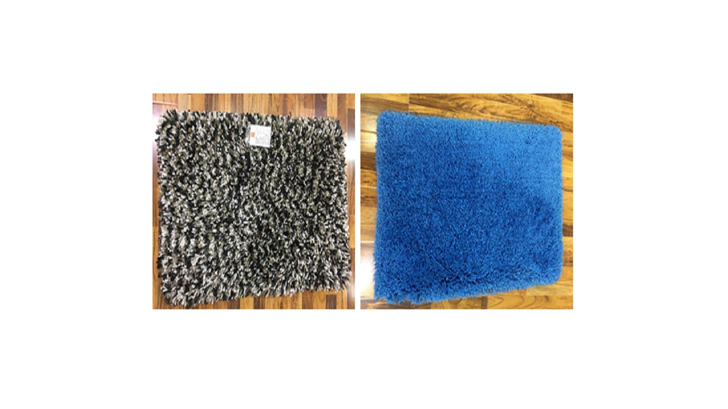 Logo shaggy rug