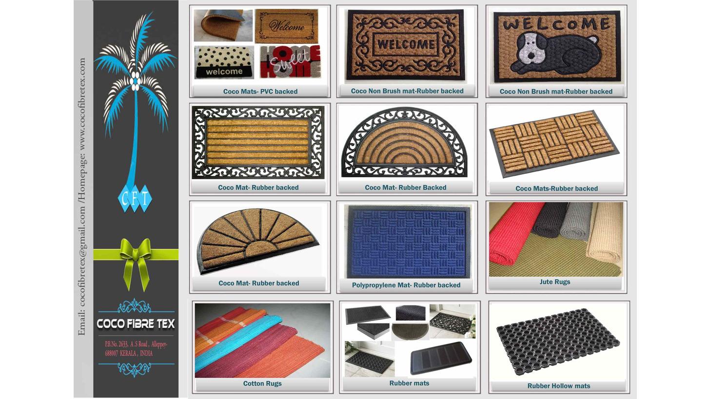 Logo Coir Doormats- Printed coir mats