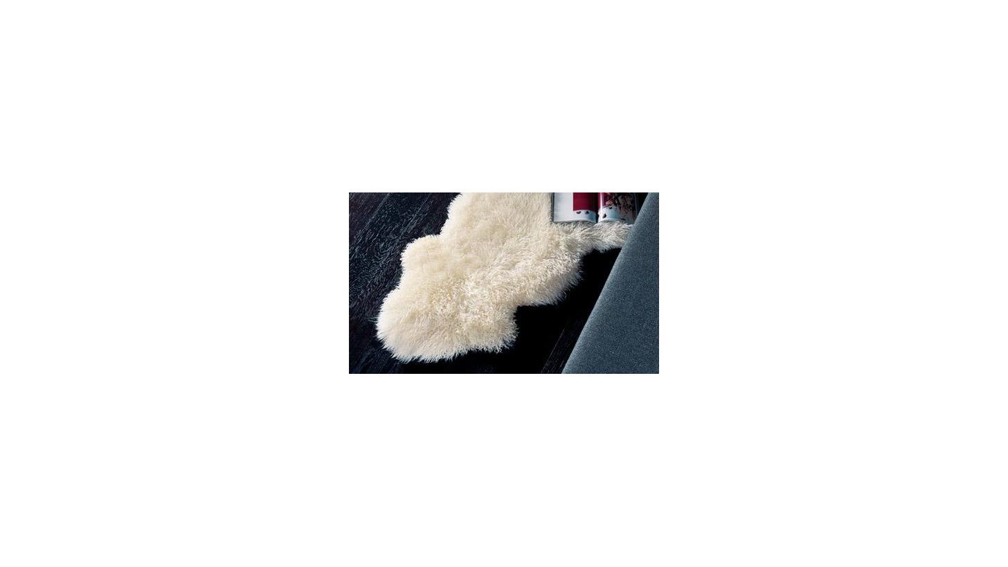 Logo Curly Rug-Long Wool Curly