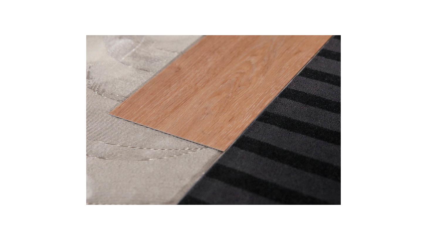 Logo Bonding of textile and elastic floorings