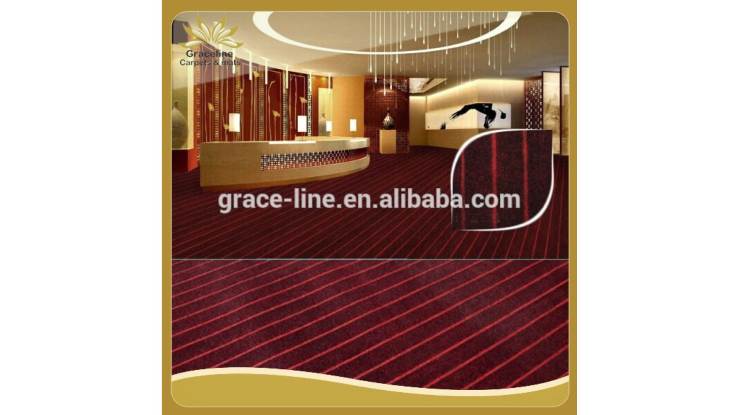 Logo Red velour rib polyester carpet