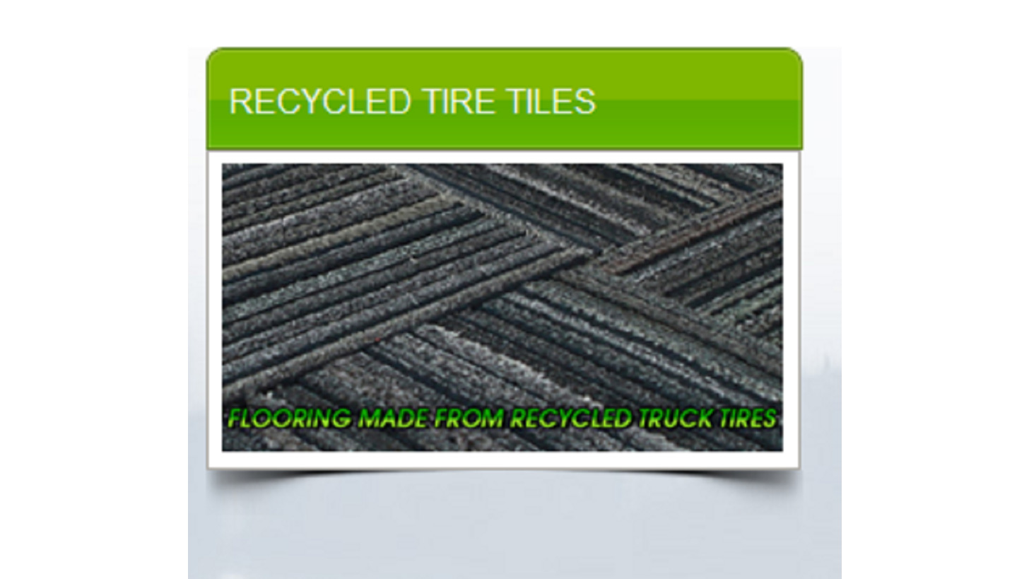 Logo Recycled Tire Tiles
