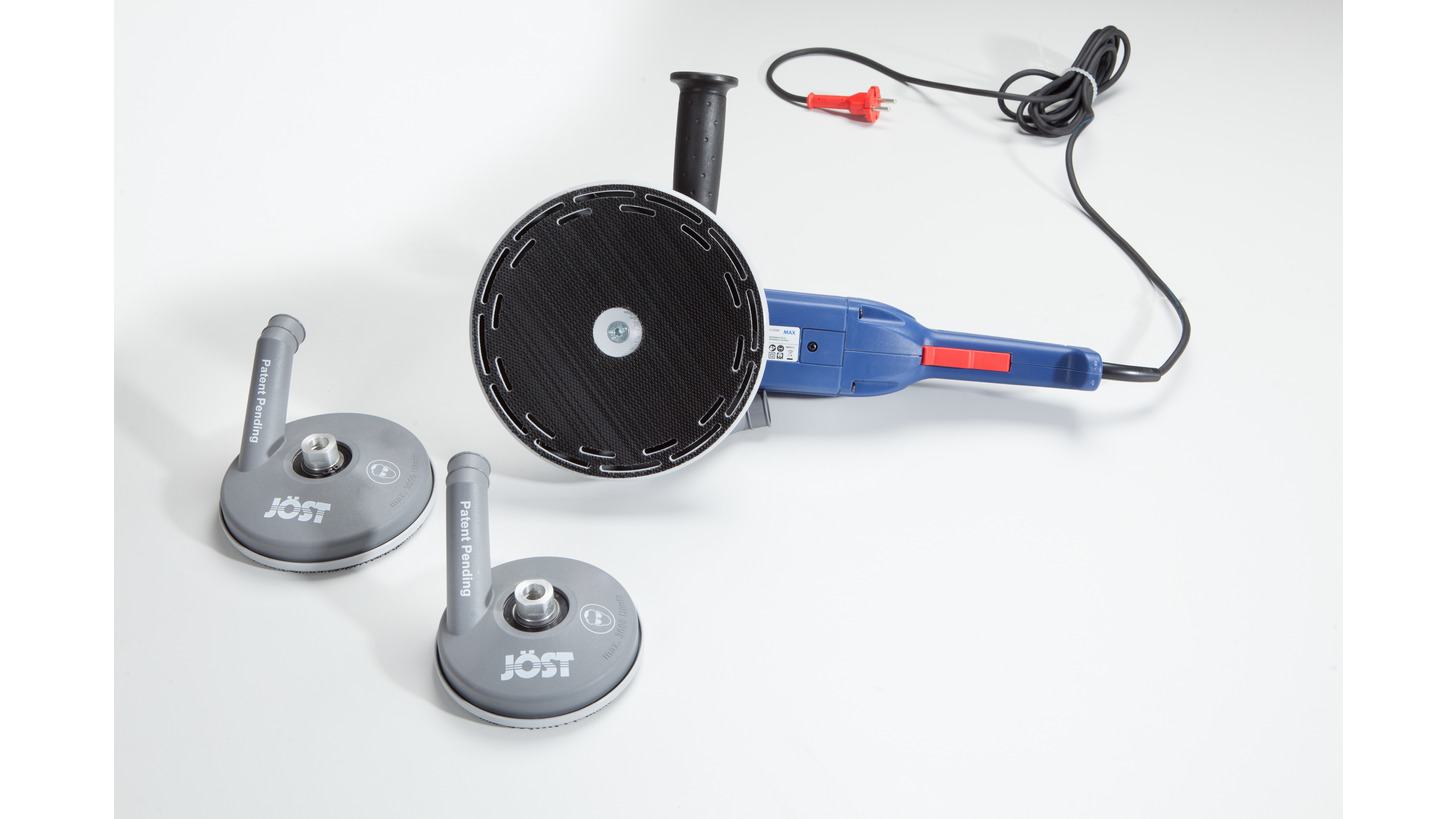 Logo P1 DUST-FREE SANDING SYSTEM FOR ANGLE GRINDERS