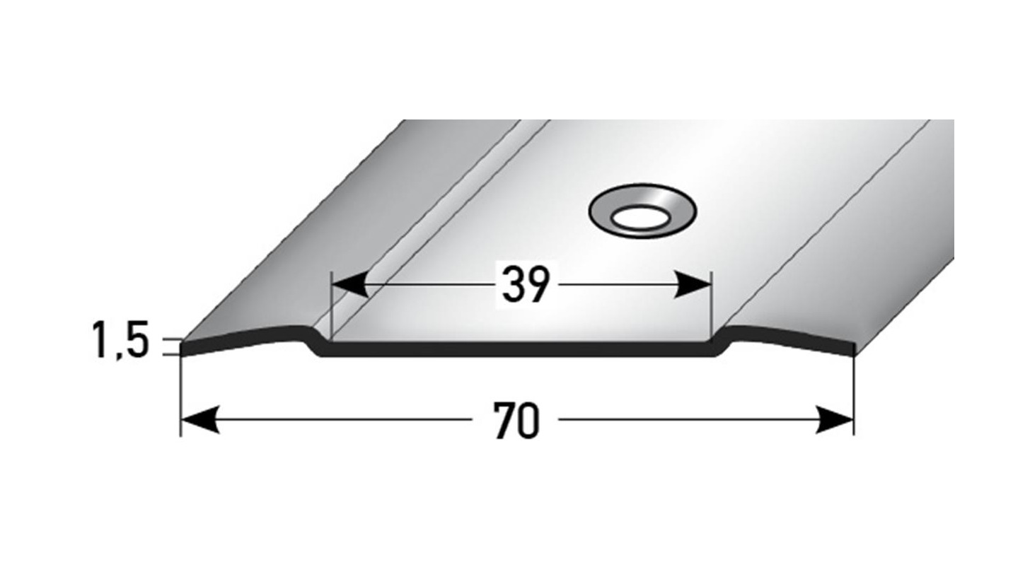 Logo INOX PROTECT Übergangsprofil 70 x 1,5 mm