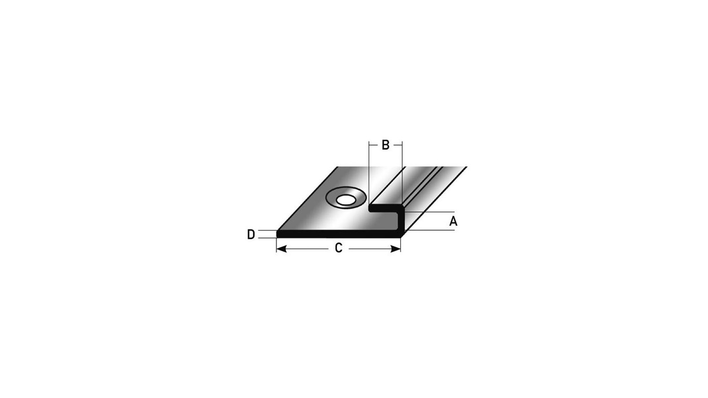 Logo Edelstahl-Einschubprofil 5 mm
