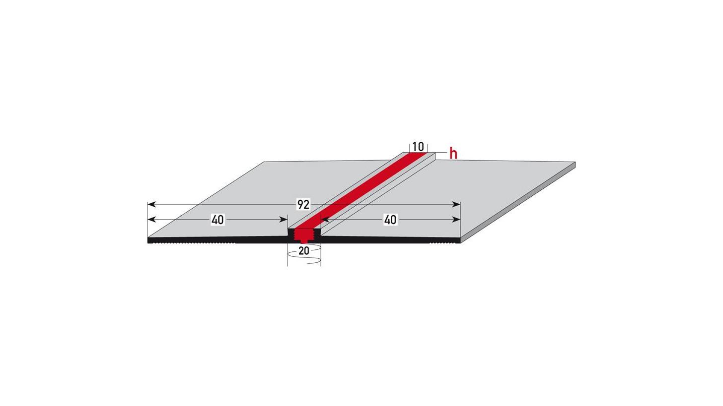 Logo 3-dimensional expansion gap profile