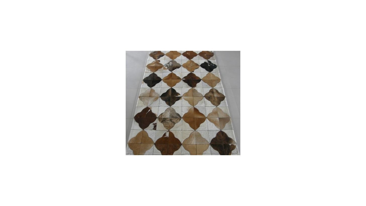 Logo Cow leather carpet