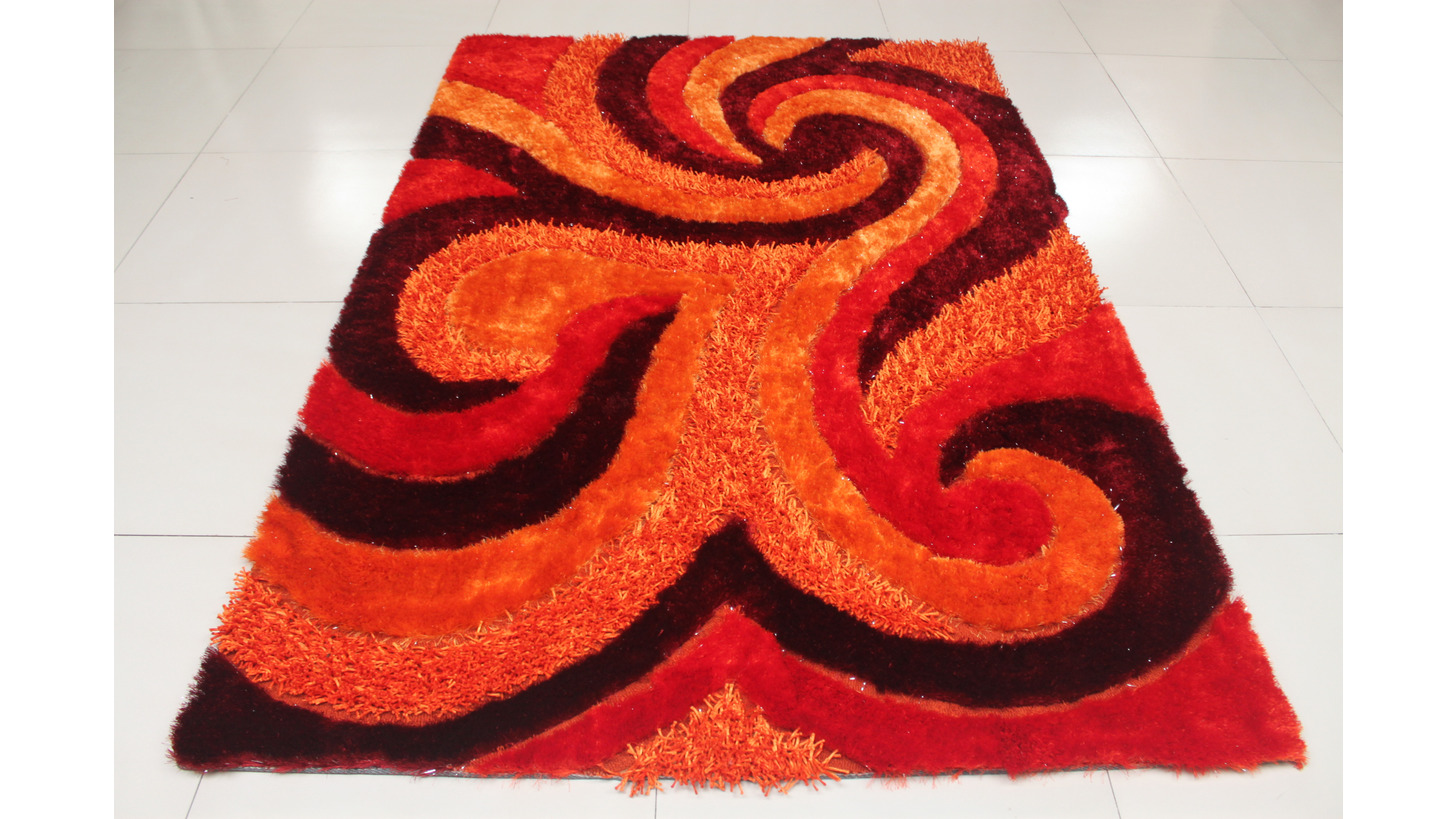 Logo Multi-structure polyester shaggy carpet
