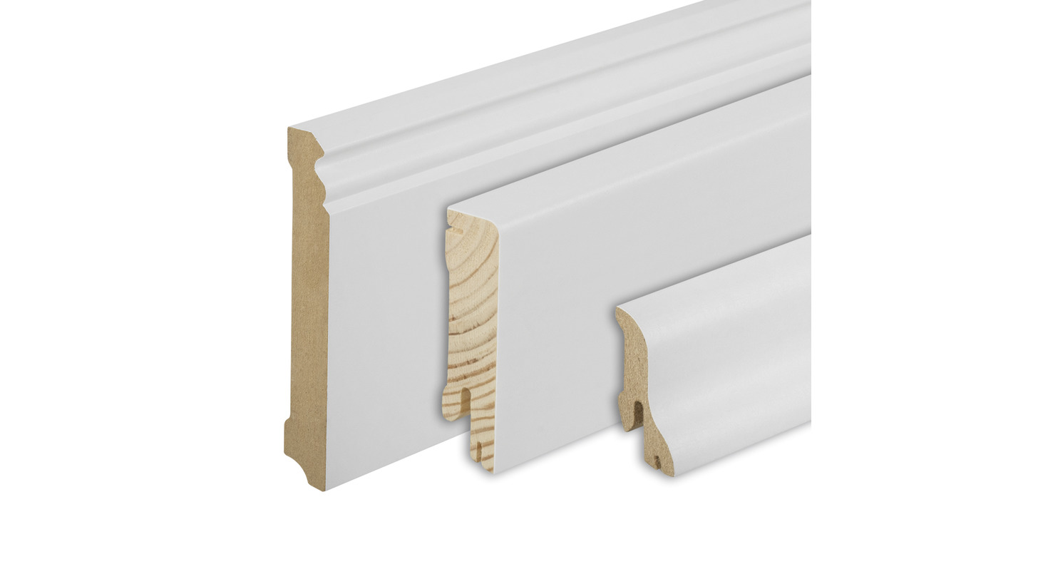 Logo White skirting boards