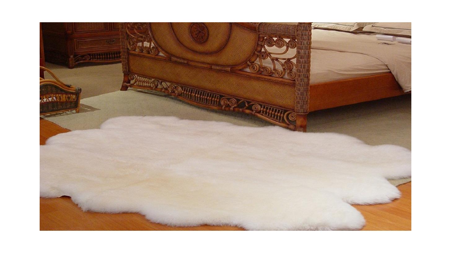 Logo Long wool sheepskin rug