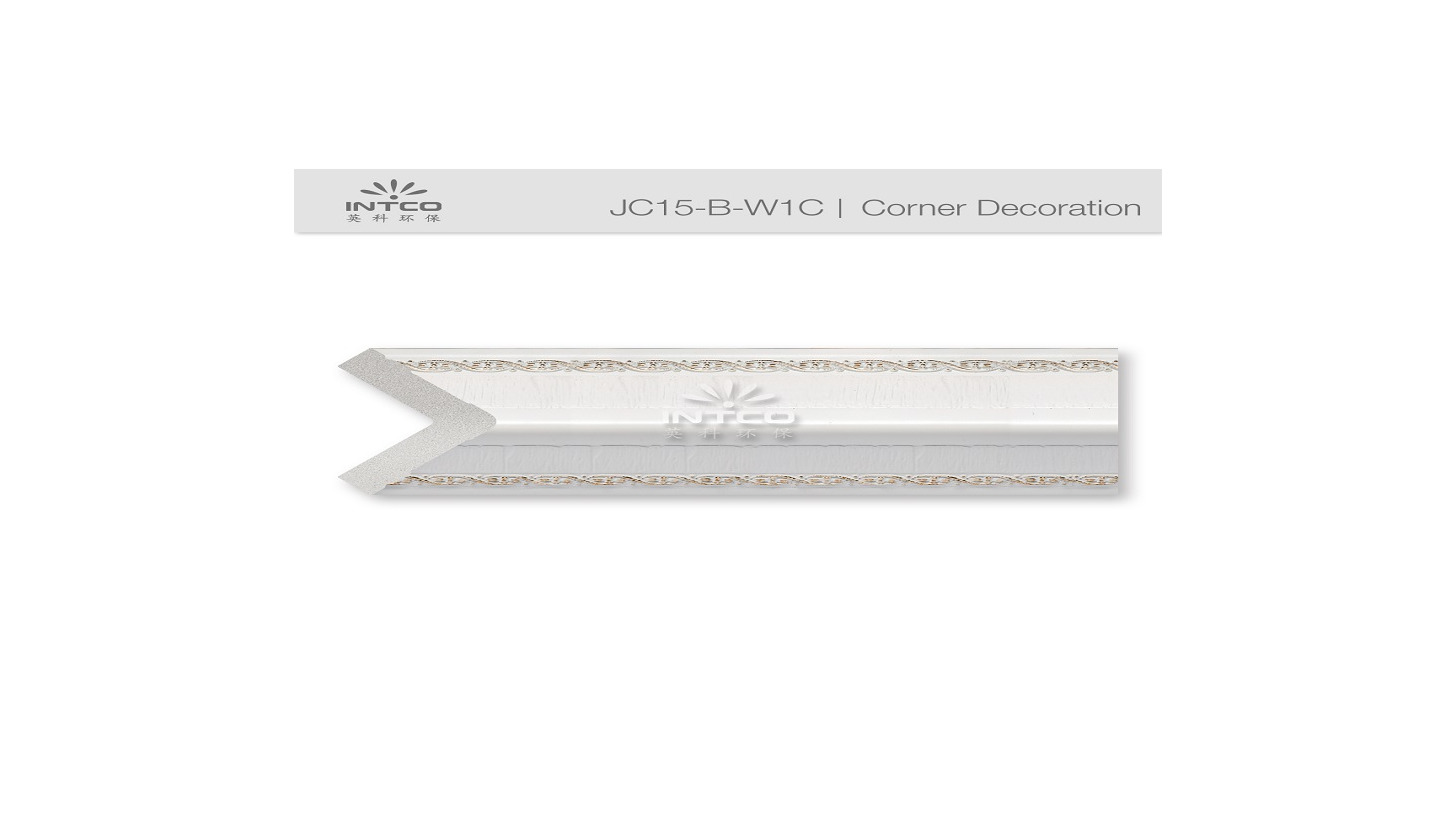 Logo Corner Decoration Moulding    JC15-B-W1C
