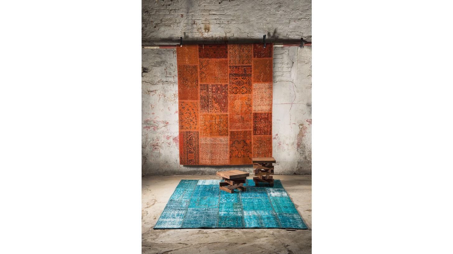 Logo Overdyed Patchwork Rugs