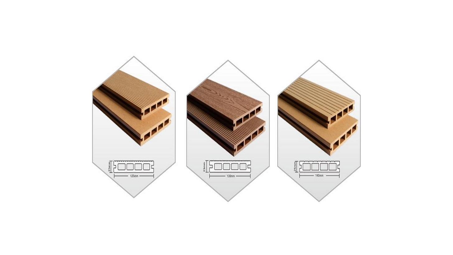 Logo wood plastic composite hollow deck