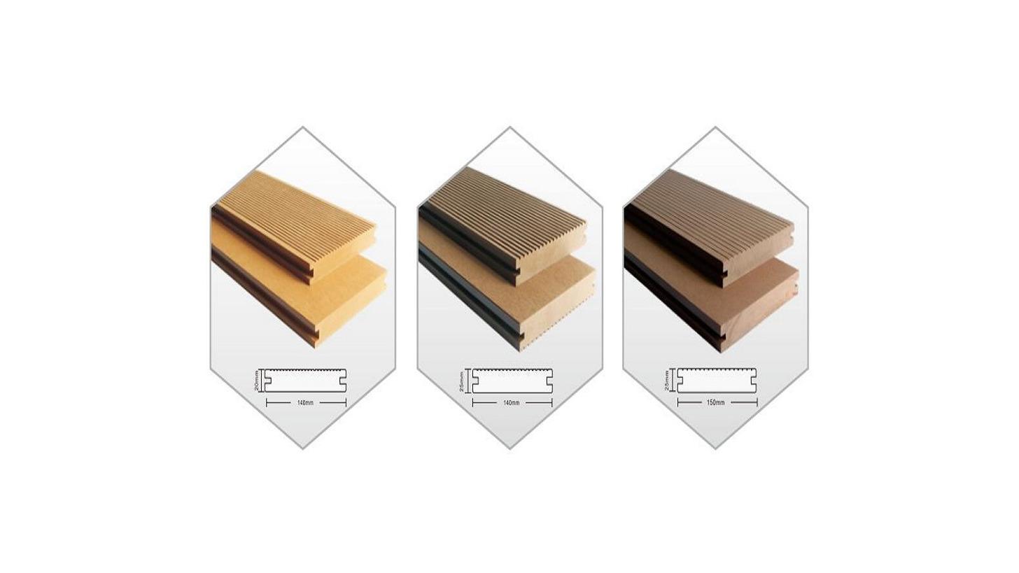 Logo wood plastic composite solid