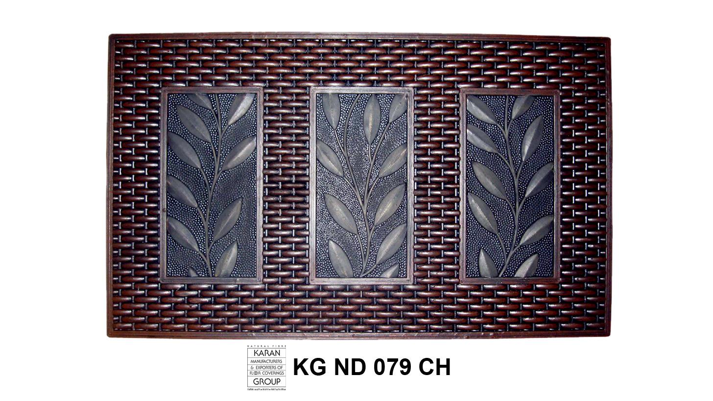 Logo Rattan Framed Leaf, Painted 'Chocolate'