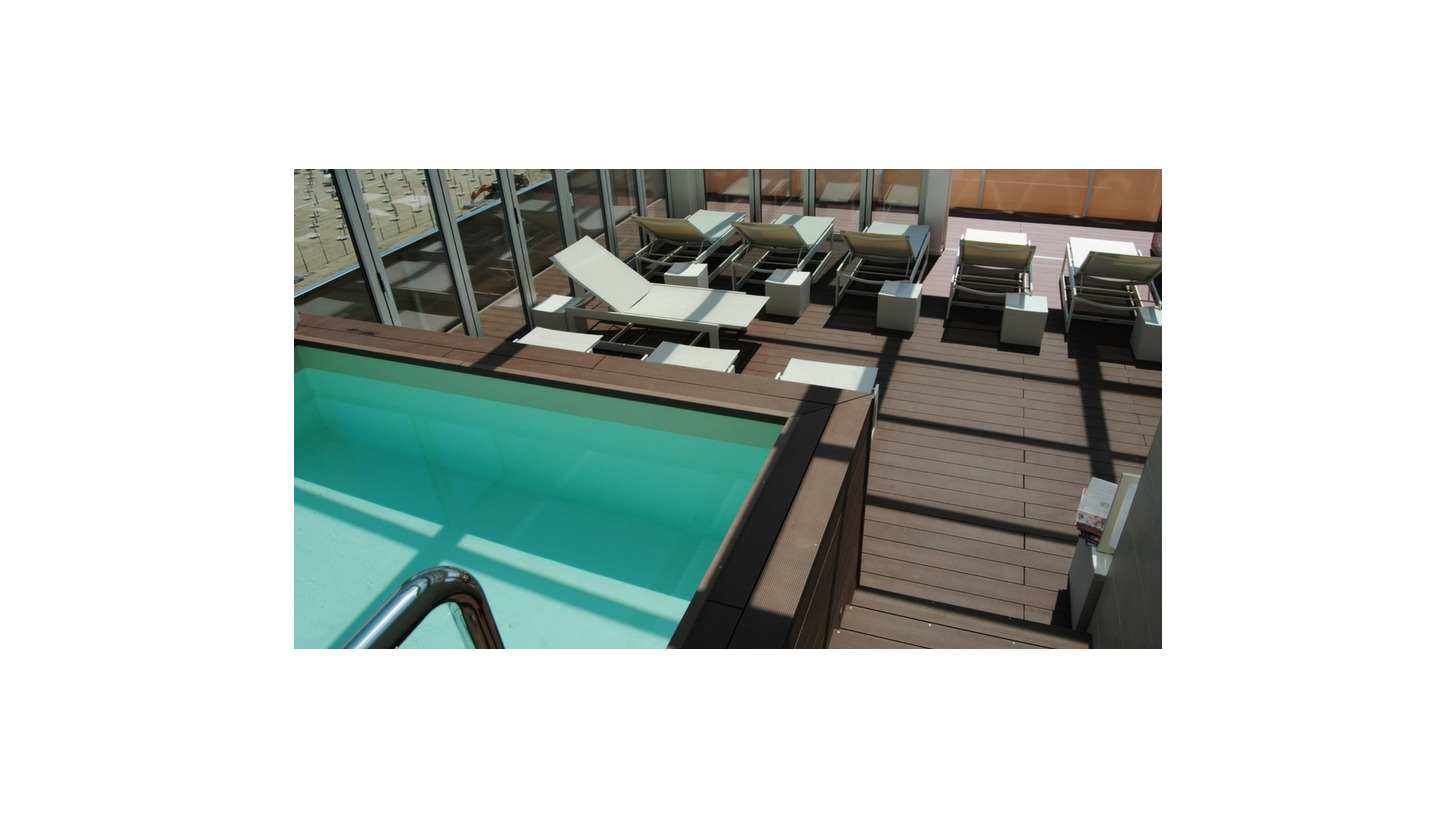 Logo Decking  made of Wood Plastic Composite