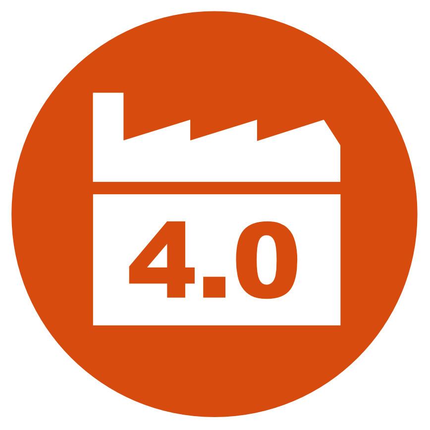 Logo Industrie 4.0 mit SAP