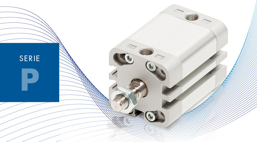 Logo SERIE P - ISO 21287 compact cylinders