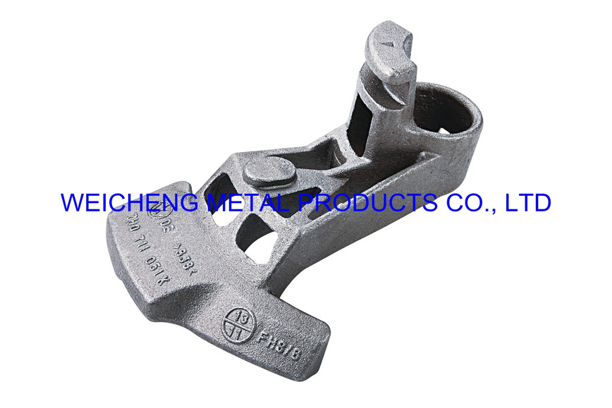 Logo car fitting by water-glass casting
