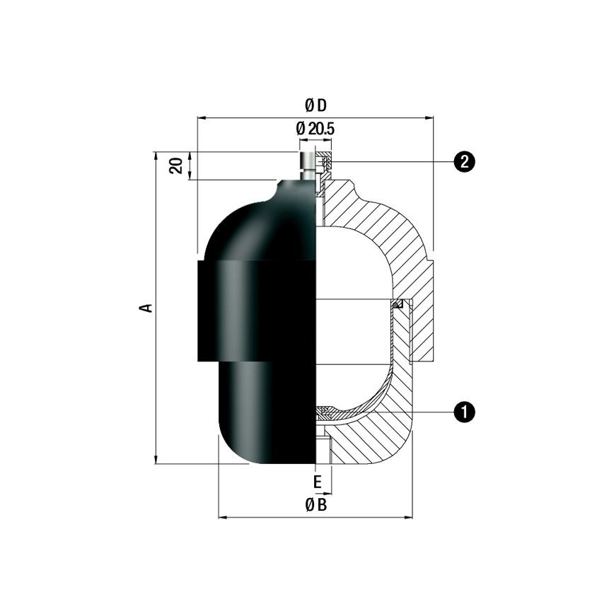 Logo Membrandruckspeicher / Pulsationsdäfmper - APV Type