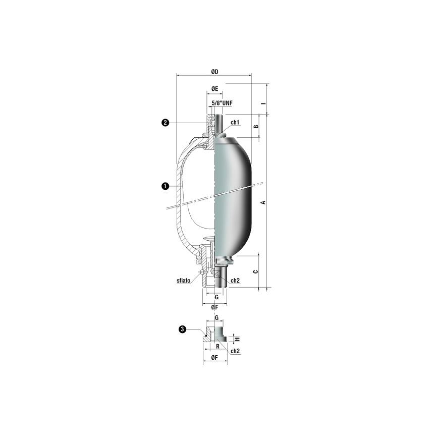 Logo Blasendruckspeicher / Pulsationsdämpfer - SI Type