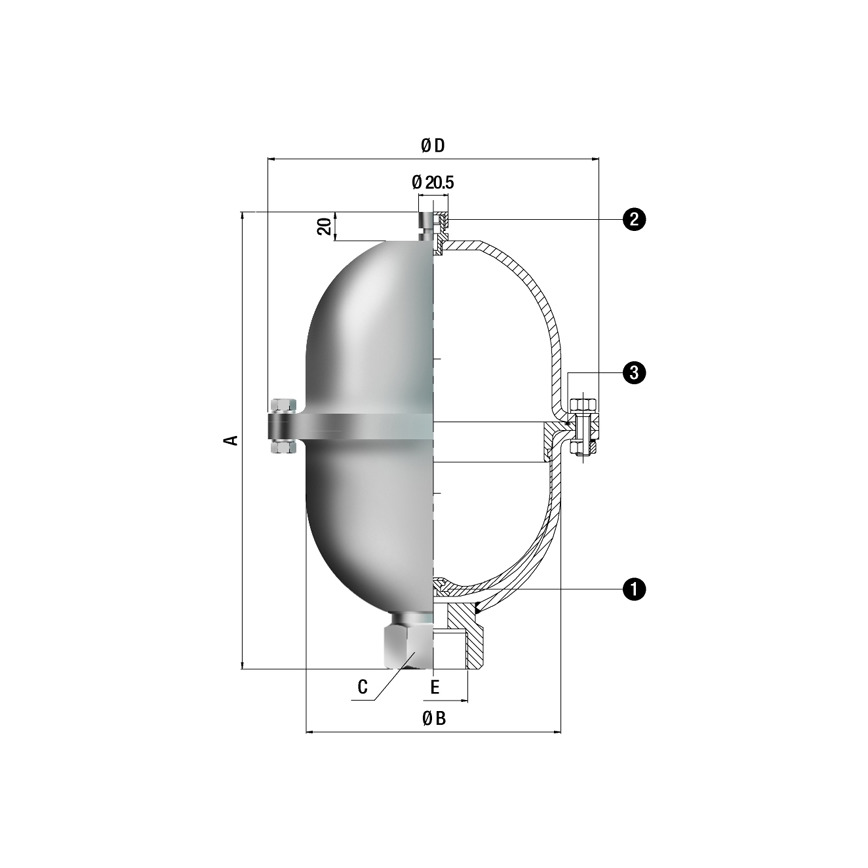 Logo Membrandruckspeicher / Pulsationsdämpfer - BPL Type