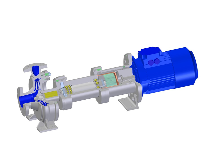 Logo magnetic coupled pump for solids