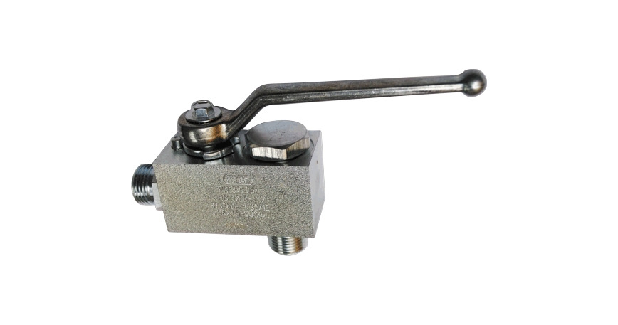 Logo Ball valve with banjo bolt for direct mounting