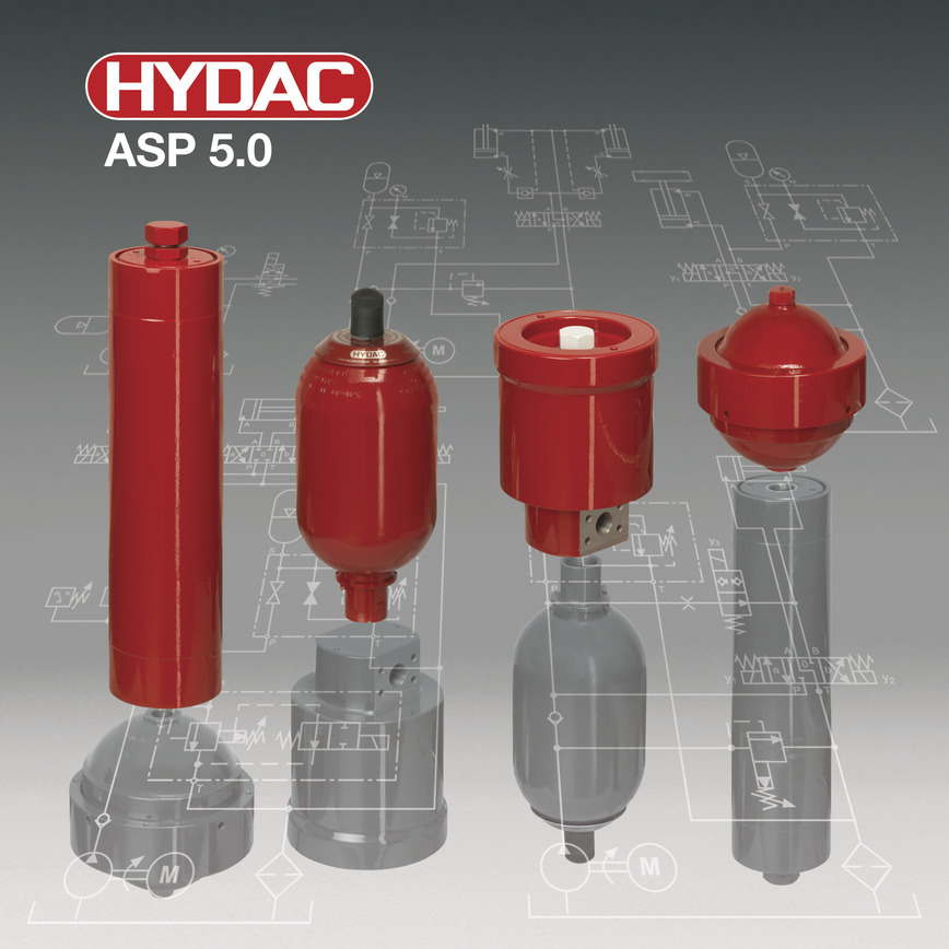 Logo HYDAC ASP 5.0  - Die neue Dimension der Speicherauslegung