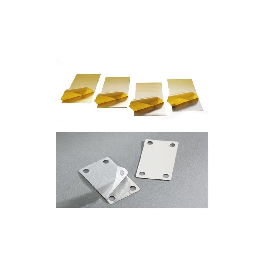 Logo M-Tech® Selbstklebende Metallfolien und selbstklebende Metallteile