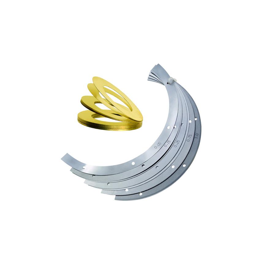 Logo M-Tech®P Edge bonded shims (spacers), Loose leaf shims