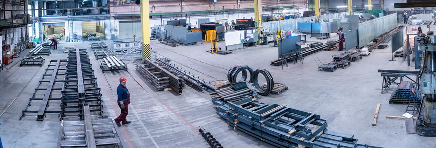 Logo Steel structure manufacturing services
