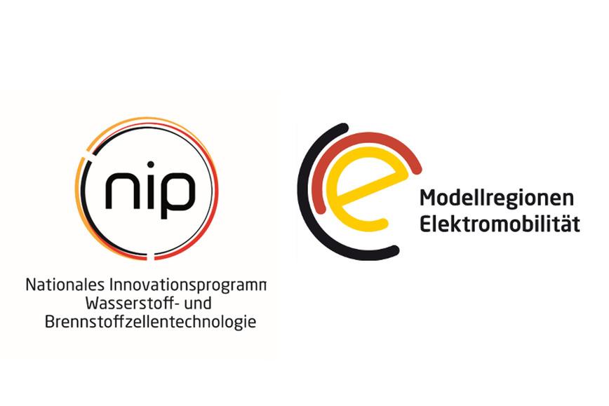 Logo NIP und Modellregionen Elektromobilität