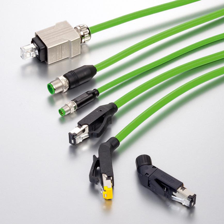Logo Komplettes Programm an Ethernetleitungen