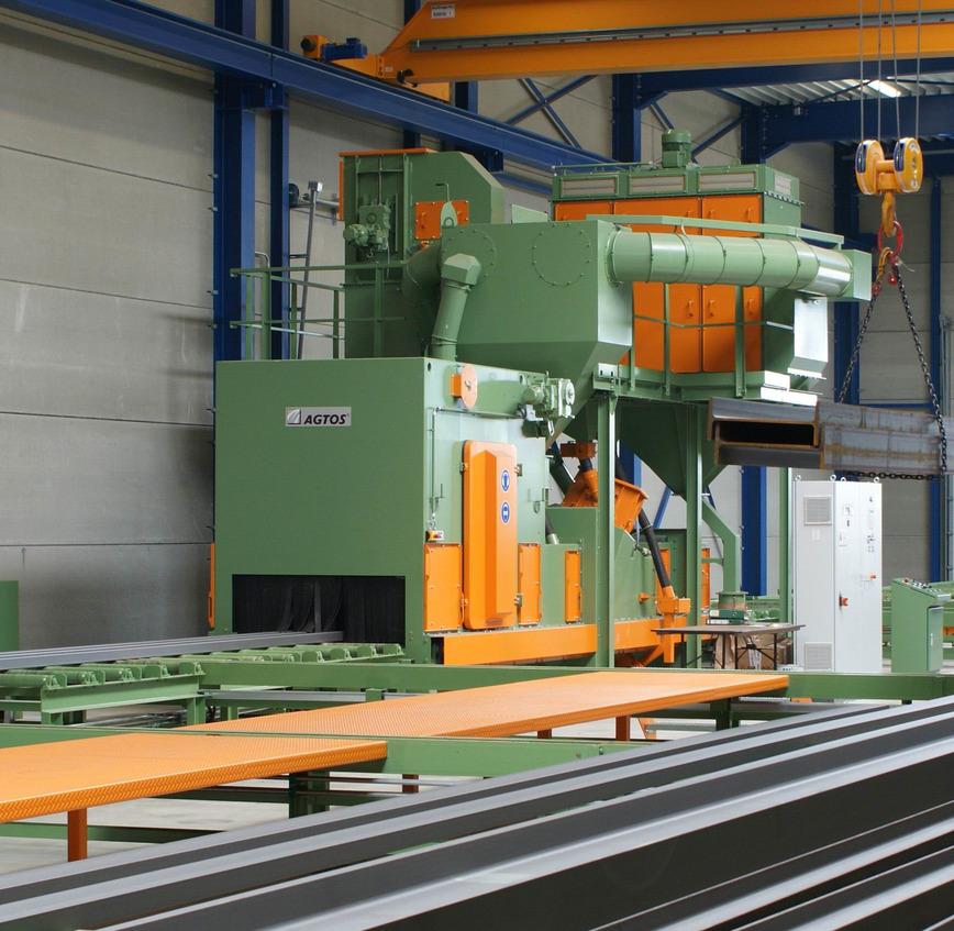 Logo Roller conveyor blast machine