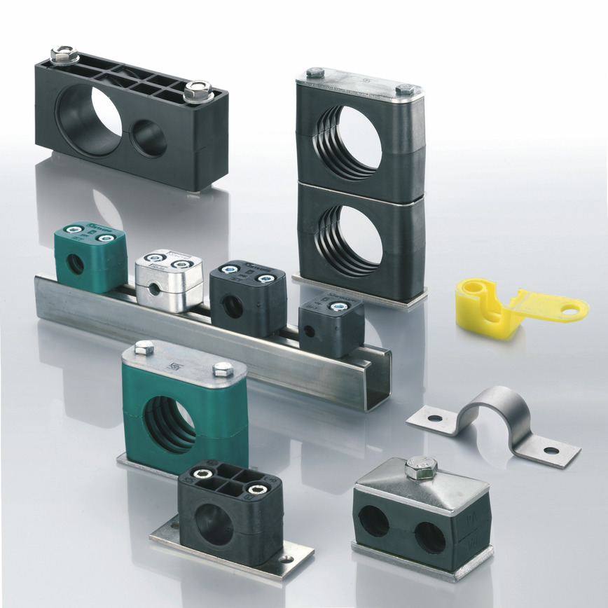 Logo STAUFF-Clamps  - Fastening systems for pipes, tubes, cables,