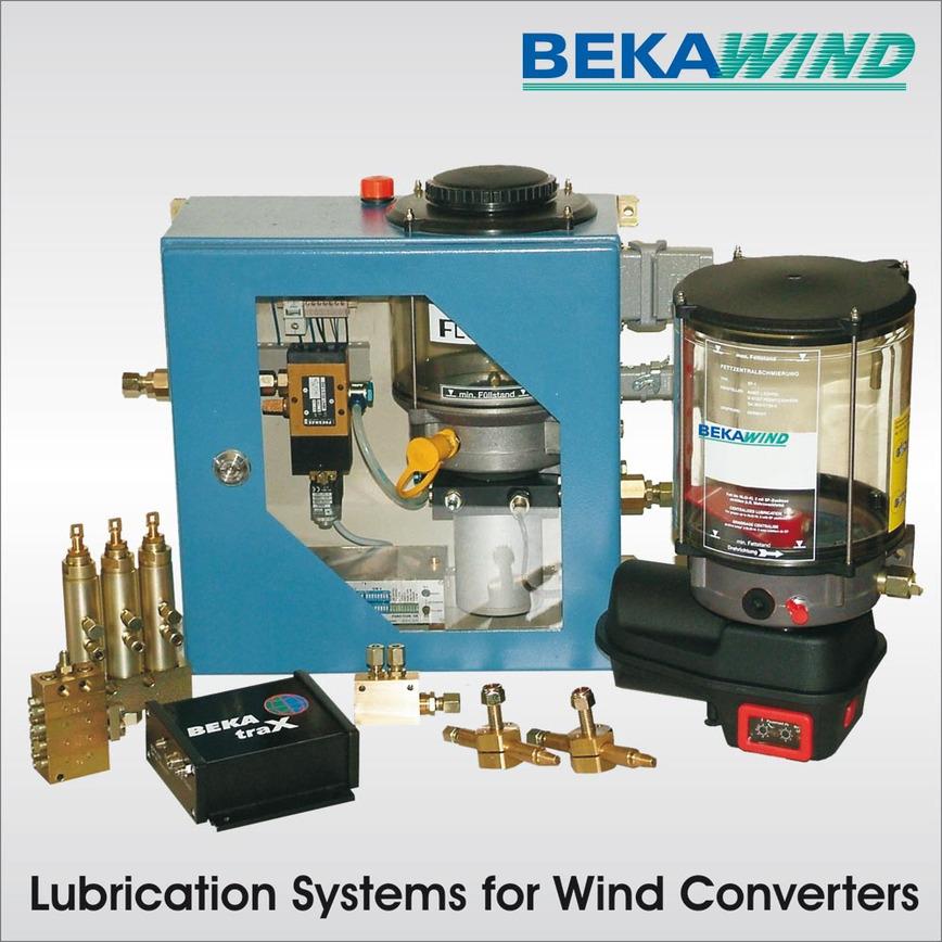 Logo BEKAWIND Zentralschmiersysteme für Windkraftanlagen