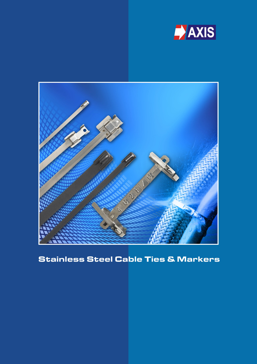 Logo Stainless Steel Cable ties and markers