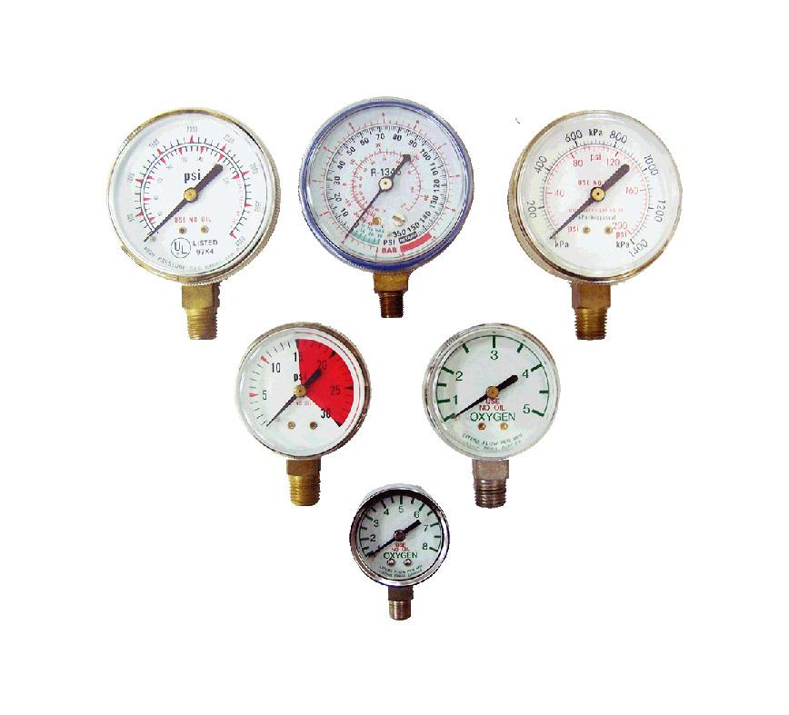 Logo Compressed Gas & Welding Regulator Gauge & Refrigeration Gauge